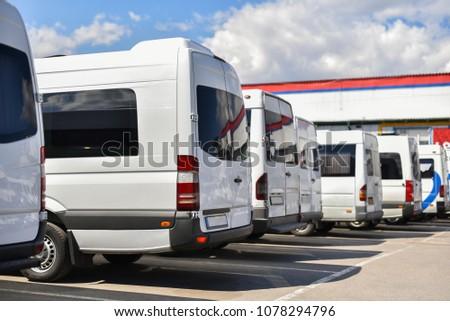 row of tourists buses