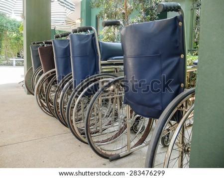 Row of Wheel Chairs
