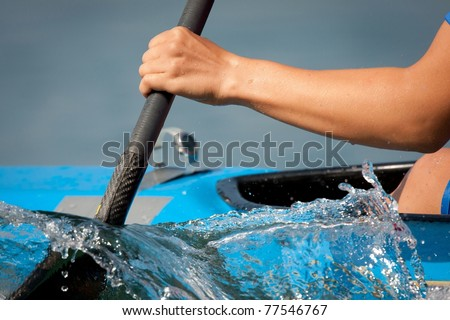 rowing - stock photo