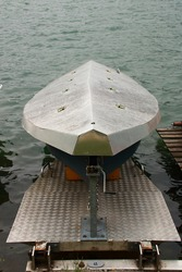 Rowing boats on Lake Zell are covered for protection from the weather