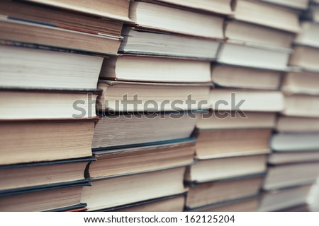 Rows and columns of numerous books