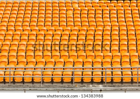 Rows of empty seat in stadium at National stadium Thailand.