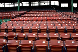 Rows of empty seats