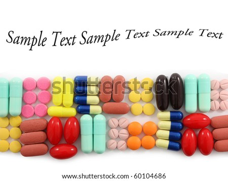 Rows of pills with space for text