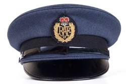 Royal Air Force cap isolated on white.