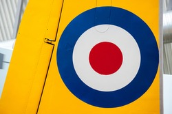 Royal Air Force Roundel on tail of plane