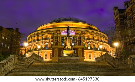 Royal Albert Hall at dusk, London