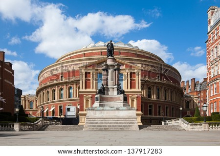 Royal Albert Hall in London. It is a concert hall in South Kensington.