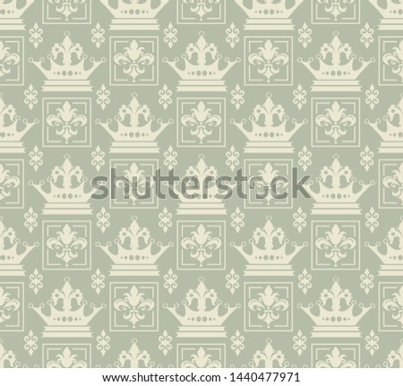 Royal background pattern. Retro pattern in vintage style. Ornament illustration. Background wallpaper. Abstract seamless texture. Template for fabric design
