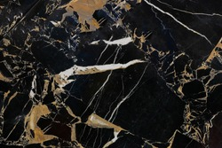 Royal black marble background with white and golden streaks