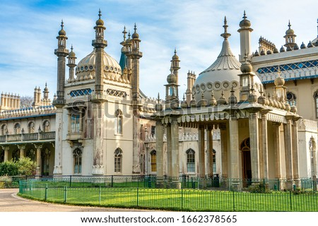 Royal Brighton Pavilion build for King George IV in the early 19C in Brighton, Sussex England.