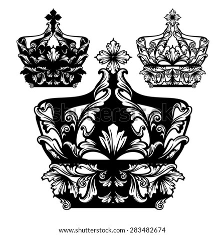 Black Royal Royal Crown Black And White