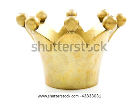 Royal crown with balls isolated over white