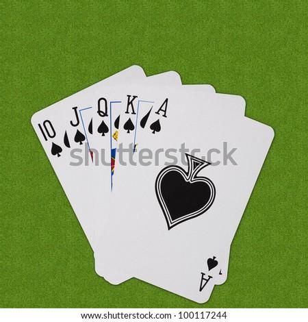 Royal Flush Play Cards