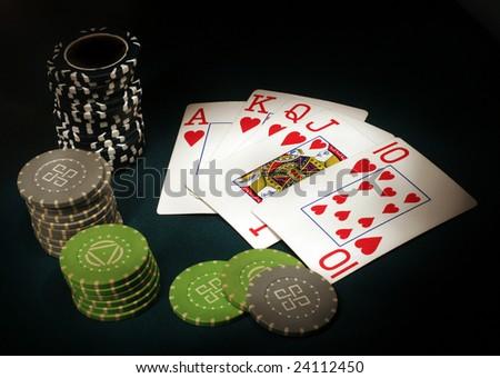 Backgrounds For Sports. Royal Flush poker sports