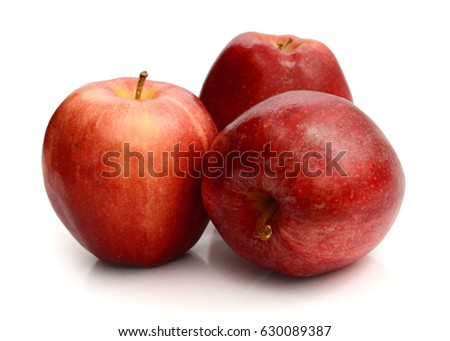 Royal Gala apples on white background,Fresh apples , Ji Na apple