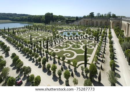 Royal Garden and Fountain inside Palace de Versailles, France, UNESCO