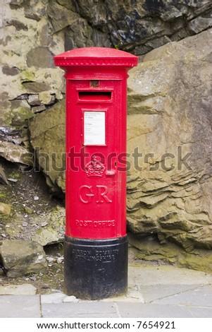 Royal Mail box on pavement