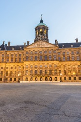 Royal Palace (Koninklijk Paleis Amsterdam or Paleis op de Dam) in Amsterdam, Netherlands.