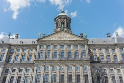 Royal Palace (Koninklijk Paleis Amsterdam or Paleis op de Dam) in Amsterdam, one of three palaces in the Netherlands which are at the disposal of the monarch by Act of Parliament.