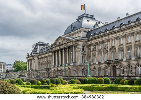 Royal Palace of Brussels (Palais Royal de Bruxelles, 1783 - 1934) - official palace of King and Queen of Belgians in centre of nation's capital Brussels, Belgium.  #384986362