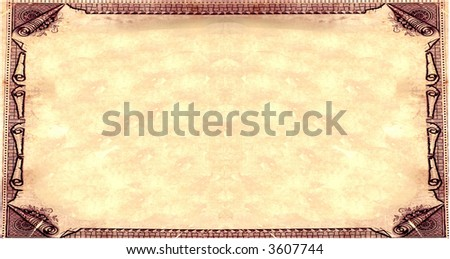 Royal paper - stock photo
