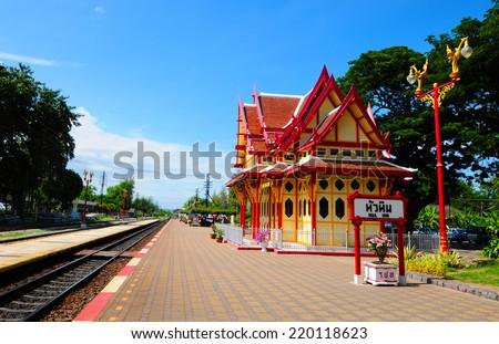 Royal pavilion at Hua Hin railway station,Hua Hin Thailand