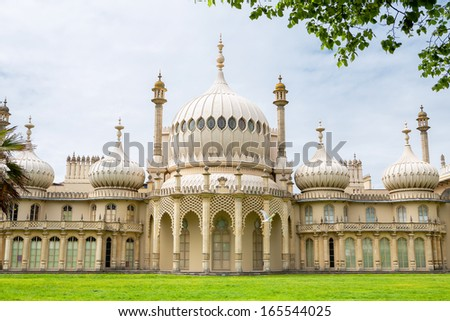 Royal Pavilion in Brighton. East Sussex, England