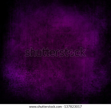 Royal Purple Background Black Vignette Frame Old Distressed