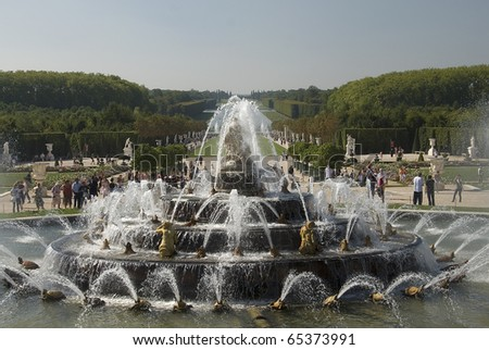 Royal residence Versailles fountain