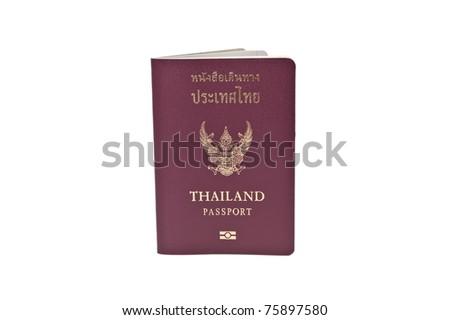 Royal Thai Passport on white