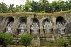 Royal Tombs in Gunung Kawi Temple and Funerary complex, Tampaksiring, Bali, Indonesia