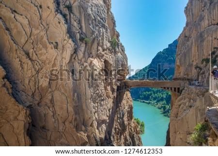 Royal Trail (El Caminito del Rey) Spain Foto stock ©