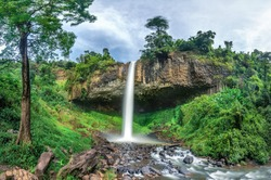 Royalty high quality free stock image aerial view of Lieng Nung or Dieu Thanh waterfall, Dak Nong, Vietnam, is top waterfalls in Vietnam. Aerial view