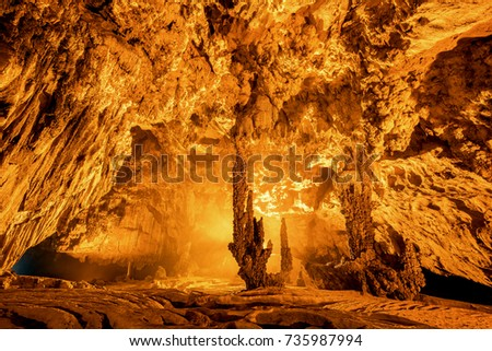 "Royalty high quality free stock image of "" Nguom Ngao ' cave at Trung Khanh, Cao Bang, Vietnam"