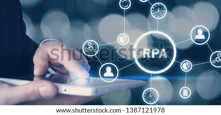 RPA-Robotic Process Automation. Technology concept Stock photo ©