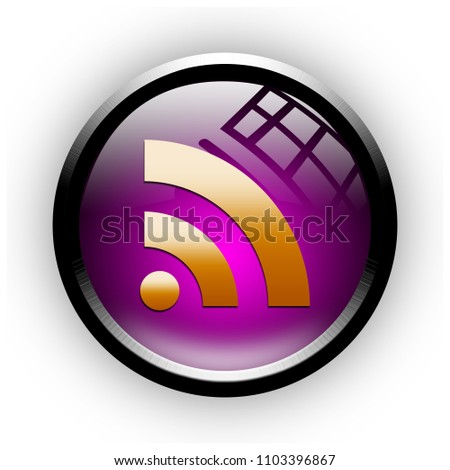 rss button isolated