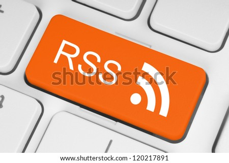 RSS button on keyboard close-up