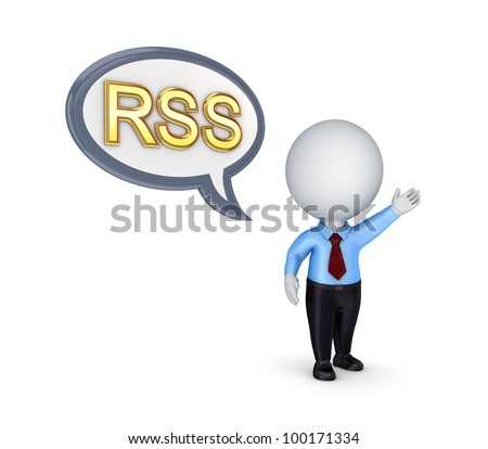 RSS concept.Isolated on white background.3d rendered.