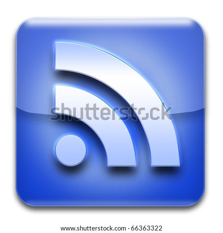 RSS icon isolated on white
