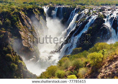 Ruacana Falls, border of Angola and Namibia