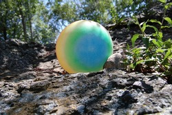 rubber ball in nature