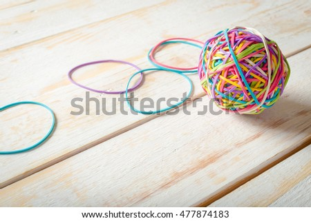 Rubber Bands and a Rubber Band Ball #477874183
