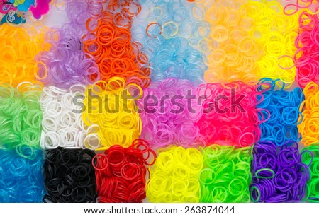Rubber bands of different colors - new amazing activity for kids of different ages