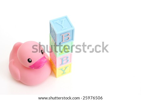 Rubber Duck With Word Baby