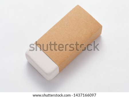 Rubber eraser isolated over the white background Stok fotoğraf ©