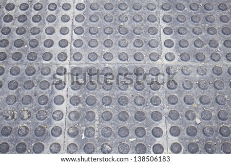 Rubber floor dust dirty gray circles, construction and architecture