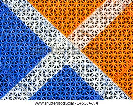 Rubber floor tiles background