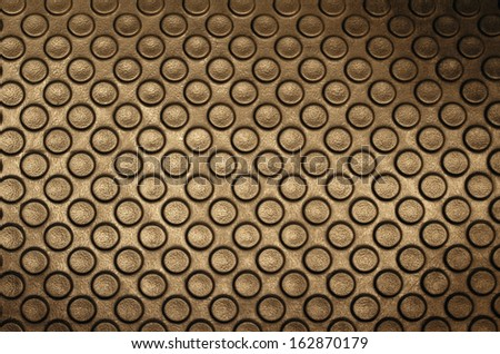 Rubber floor with circle button shape background