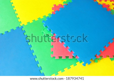 rubber foam for baby play and   background